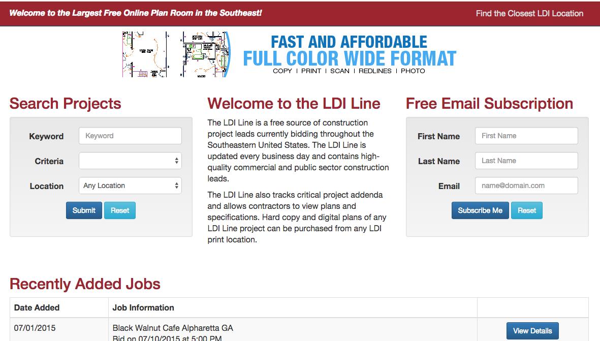 The LDI Line at LDI Reproprinting